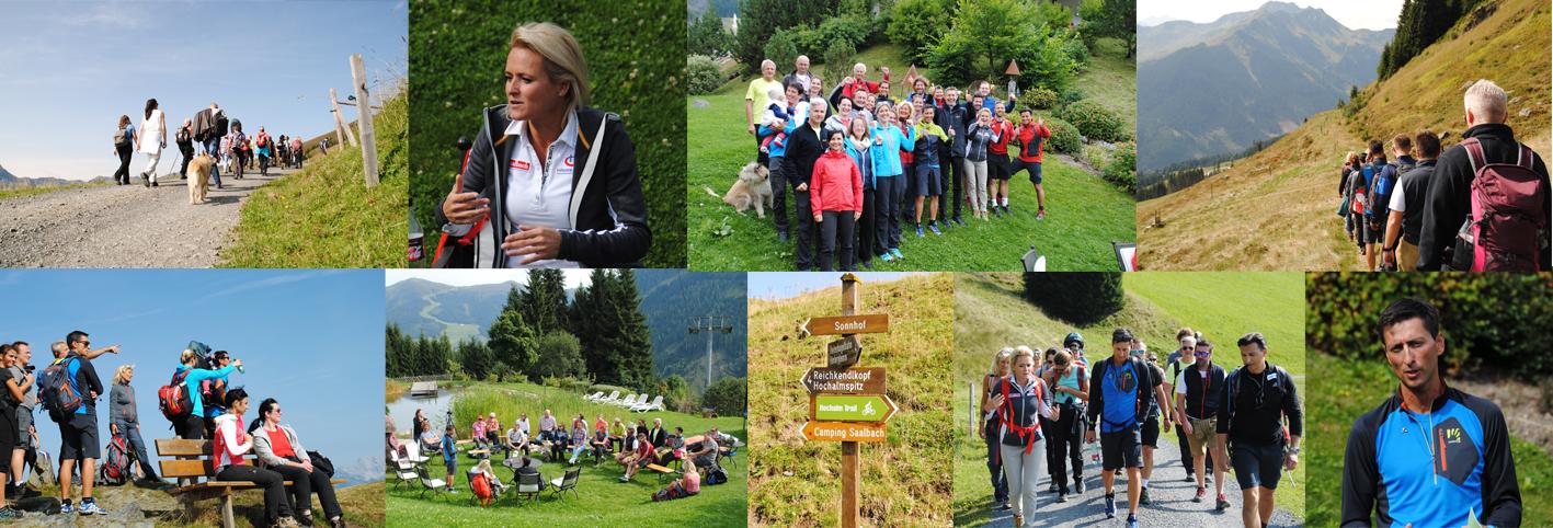Erfolgswandertag mit den Ski-Legenden Alexandra Meissnitzer und Mario Stecher in Saalbach